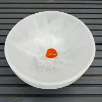 Large Selenite Crystal Gem Bowl 14cm wide