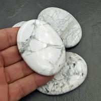 White Howlite Palm Stones - Large