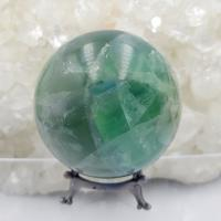Green Fluorite Crystal Sphere No1
