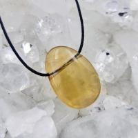 Yellow Fluorite Side Drilled Pendant