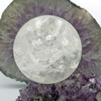 Lemurian Quartz Crystal Ball #A7 - 101mm