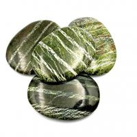 Serpentine & Chrysolite Palm Stones - Large