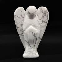 White Howlite Crystal Angel 7.8cm No2