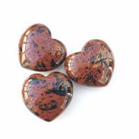 Mahogany Obsidian Puff Hearts 40mm