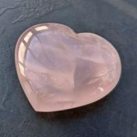 Very Large Rose Quartz Puff Heart No2