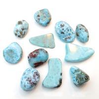 Large Larimar Tumble Stones 3-3.5cm