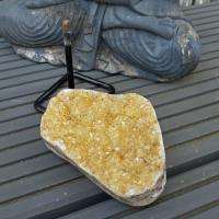 Citrine Cluster on Stand No2