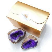 Purple Quartz Geodes from Morocco