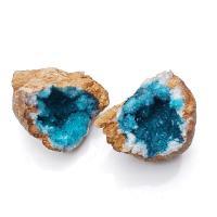 Aqua Quartz Geodes from Morocco