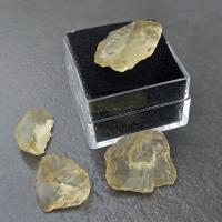 Libyan Gold Tektite in Specimen box