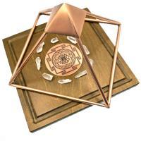 Copper Pyramids Sri Yantra