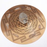 Copper Plate with Sri Yantra Mandala Grid
