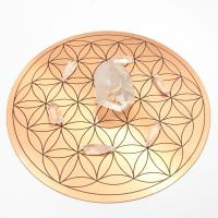 Copper Plate with Flower of Life Mandala Grid