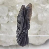 Hand Carved Obsidian Crystal Angel 6cm