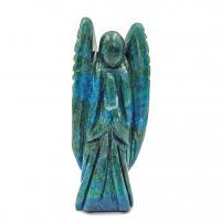 Hand Carved Chrysocolla Crystal Angel 6.4cm