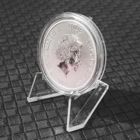 Clear Acrylic Easel Stand 5.5cm Agates / Coins