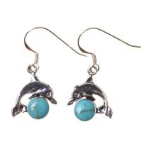 Turquoise Leaping Dolphin Earrings