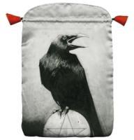 Crow Satin Tarot Bag