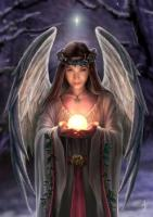 Yule Angel Card