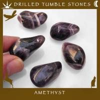 Side Drilled Amethyst Tumbled Stones