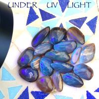 Blue Amber Tumble Stones - Sold Singly
