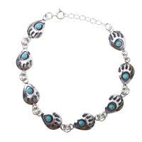 Turquoise Bear Track Bracelet