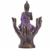 Purple and Black Thai Buddha in Hands