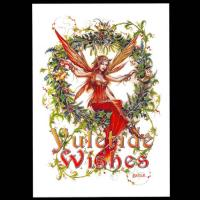 Mistletoe Fairy Greetings Card by Briar