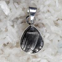 Elite Shungite Pendant in Solid Silver No2