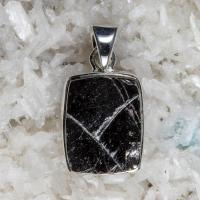 Elite Shungite Pendant in Solid Silver No3