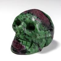 Ruby Zoisite Crystal Skull No11