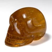 Honey Calcite Crystal Skull No15