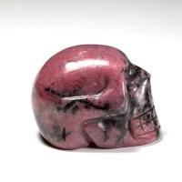 Rhodonite Crystal Skull No4
