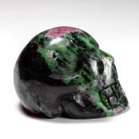 Ruby Zoisite Crystal Skull No6