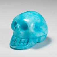 Blue Aragonite Crystal Skull No7