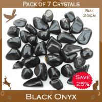Pack of 7 Black Onyx Tumble Stones