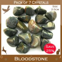 Pack of 7 Bloodstone Tumble Stones
