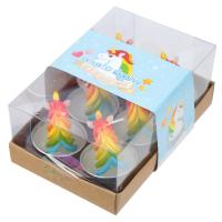 Rainbow Unicorn T Lite Candles pack of 6