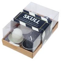 Black & White Skull T Lite Candles pack of 6
