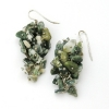 Green Moss Grape Earrings