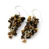 Tigers Eye Grape Earrings
