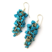 Turquoise Grape Earrings