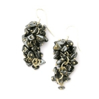Hematite Grape Earrings