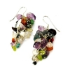Mixed Crystals Grape Earrings