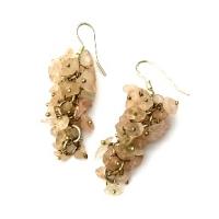 Rose Quartz Grape Earrings