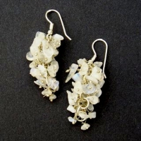 Moonstone Grape Earrings