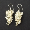 Quartz Crystal Grape Earrings