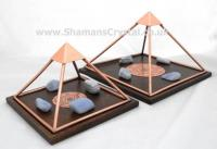 Copper Sri Yantra Charging Pyramids
