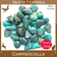Pack of 7 Chrysocolla Tumble Stones