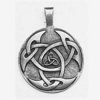 Lughs Shield Celtic Knot Pendant